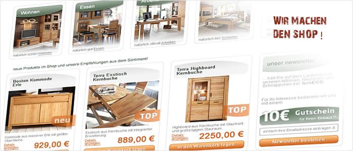 Massivholzmöbel aus Wildeiche und Kernbuche für natürlich schönes ...